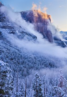 Winter in El Capitan, Yosemite National Park, California.I want to go see this place one day. Please check out my website Thanks.  www.photopix.co.nz