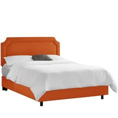 Alcott Hill Klein Upholstered Panel Bed Upholstery: Klein Saffron, Size: California King