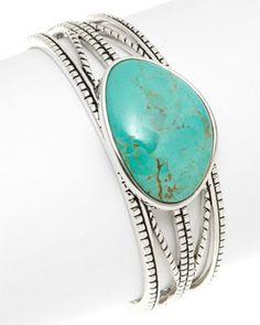 Barse Aruba Silver Turquoise Cuff