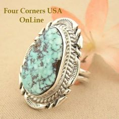 Four Corners USA Online - Size 7 1/4 Teardrop Dry Creek Turquoise Stone Ring Thomas Francisco Native Indian Silver Jewelry NAR-1431, $192.00 (http://stores.fourcornersusaonline.com/size-7-1-4-teardrop-dry-creek-turquoise-stone-ring-thomas-francisco-native-indian-silver-jewelry-nar-1431/)