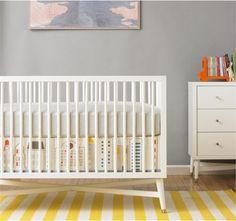 Skyline Canvas Crib Skirt by DwellStudio, Crib Skirts, Bedding for Boys