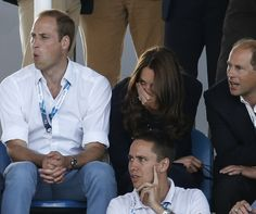 Prince William and Kate appeared to enjoy watching the Scotland v Wales women's hockey match during their trip to Glasgow for the 2014 Commo...