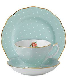 Royal Albert Dinnerware, Polka Rose 3-Piece Set - Fine China - Dining & Entertaining - Macy's