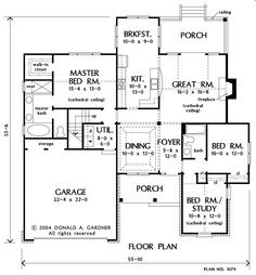 Search house plans from the Donald Gardner portfolio of custom home designs. The best home plans since Custom modification to all floor plans available. Lake House Plans, Dream House Plans, Small House Plans, House Floor Plans, My Dream Home, Home Design Plans, Plan Design, Design Ideas, Custom Home Designs
