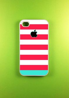 Cute Pink Blue Strip Iphone Case for Fashion Hot Girl