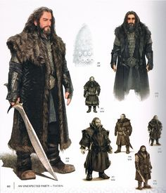 I was lucky enough to meet the person that drew up the sketches for Richard as Thorin in costume in 2012