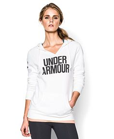 0a07bb41423c Under Armour Womens UA Favorite Fleece Word Mark Hoodie XSmall White      Details can