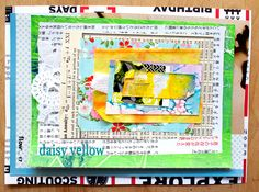 loving these One-Staple Collage - Daisy Yellow Art Journal Pages, Art Journals, Junk Journal, Art Journal Inspiration, Life Inspiration, Journal Ideas, Diy Postcard, Glue Book, Yellow Daisies