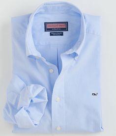 3c4cb79577fcc2 Vineyard Vines- Fine Line Stripe Whale Shirt in Hydrangea