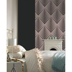 Graham Brown Soprano Wallpaper Pale Gold And Black From Homebase Co Uk