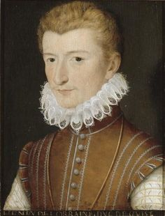 The Duke of Guise , Lover of Margaret of Valois before her arranged marriage to Henry of Navarre in 1572. In 1576 he formed the Catholic League to keep the new heir, Henry of Navarre off the throne. In 1584, Guise concluded the Treaty of Joinville with Philip II of Spain which declared that Cardinal of Bourbon should succeed Henry III in preference to Henry of Navarre.