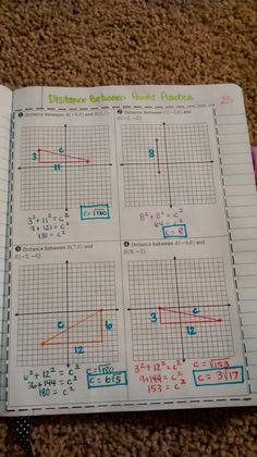 Distance Between Two Points Practice by Jessie Hester: Math Teacher, Math Classroom, Future Classroom, School Teacher, Classroom Ideas, Math Notebooks, Interactive Notebooks, Interactive Board, Teaching Geometry