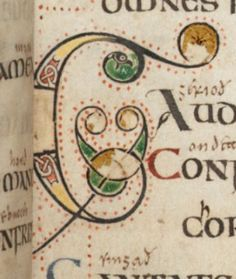 G (Gaudete) from the Vespasian Psalter