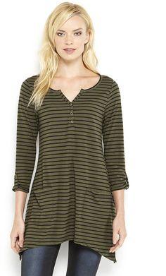 August Silk Stripe Asymmetrical Tunic on shopstyle.com