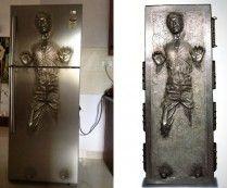 WOW! super geek. Star Wars Han Solo Frozen in Carbonite Refrigerator