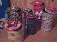 Blog de nicka :Artes de Nicka by Fabiane Paulina, Latas revestidas com