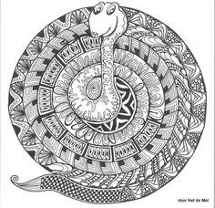 snake mandala - from Zee In Zicht - Mandala tekenen BASIS EN THEMA'S