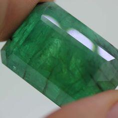 GIA Certified loose Natural Huge Step Cut Brazilian Green Emerald Beryl 86.71ct