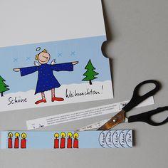 Adventskarte zum Verschicken und Basteln von Anke Thomas