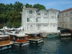 one of many restored homes along the Bosphorus in Istanbul, Turkey