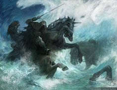 The drowning of the Ringwraiths.