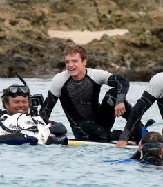 Josh on 'Catching Fire' set, that smile!