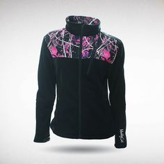 Moon Shine Camo - Muddy Girl Camo   Women's Pink Camouflage Soft Shell Jacket, $59.99 #muddygirl #pinkcamo #fleece