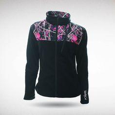 Moon Shine Camo - Muddy Girl Camo | Women's Pink Camouflage Soft Shell Jacket, $59.99 #muddygirl #pinkcamo #fleece