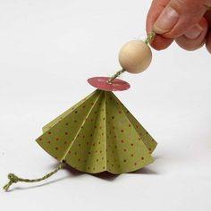 Engel i origamipapir fra Vivi Gade |DIY vejledning