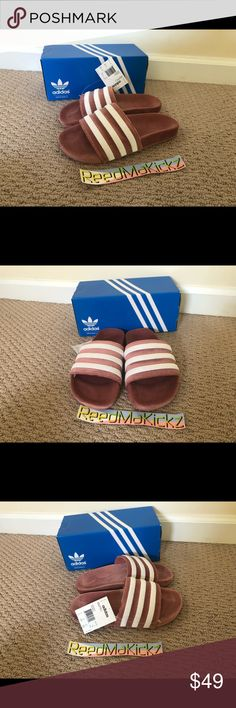 reputable site 9bb18 397bd Adidas Adilette Sandals Slides Raw Pink GS Junior 100% authentic!! No trade  Check