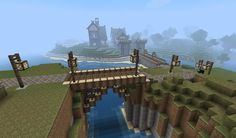 Minecraft Bridge Designs | Minecraft Medieval Bridge Medieval town minecraft