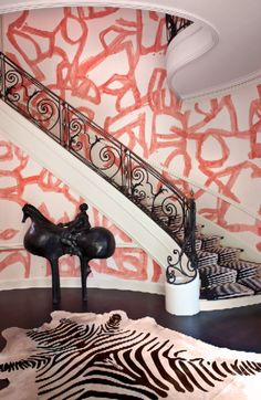Hillcrest Estate Foyer #kellywearstler #interiordecor #homedecor #luxuryinteriors #designerfurniture