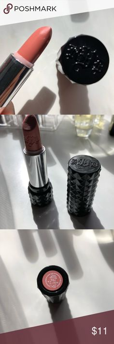 Kat Von D lipstick in Noble Used sparingly. Nice cream formula. Too light for my skin. Sanitized. Please ask any questions and see pics. Kat Von D Makeup Lipstick
