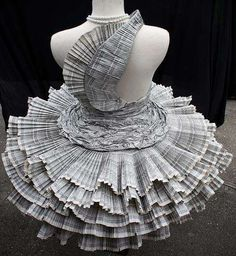 Dresses Made from Phonebooks (back)