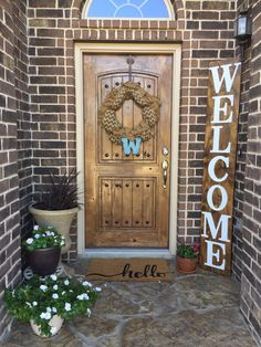 Wooden Welcome Sign by TC Customized Boutique