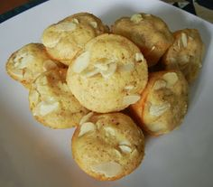 Shelly's Sweet Almond Mini Protein Muffins #healthyrecipes