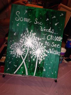 Some see weeds..I choose to see wishes