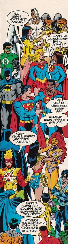 """Legends of the DC Universe - Crisis on Infinite Earths; I love how Starfire and Wonder Woman are like """"Where have you been all my life beautiful?"""""""