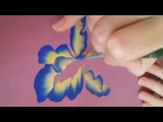 One Stroke Painting | How to Draw Flowers with Acrylic Colors - YouTube