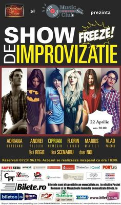 Vineri, 22 Aprilie 2016, ora 20:00, Music Club, Bucuresti Freeze, Comedy Show, Bucharest, Stand Up, Comic Books, Club, Comics, Movie Posters, Musica