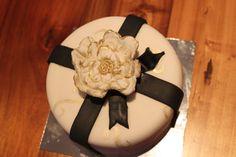 My first fondant flower. Fondant Flowers, Cake Creations, Birthday Cake, Baking, Desserts, Food, Tailgate Desserts, Deserts, Birthday Cakes