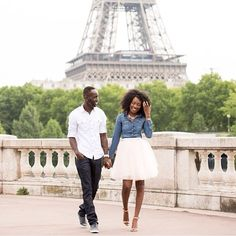 Tulle skirt from Space 46, stroll along the Eiffel Tower, denim button up shirt, sweethearts, so in love