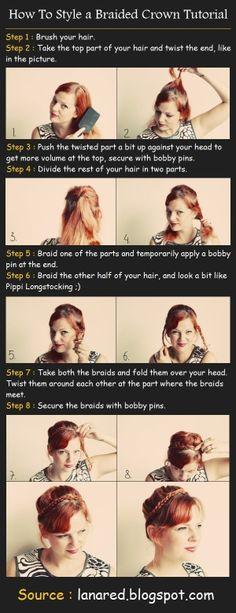 a Braided Crown Tutorial | beauty tutorials by imad karrari