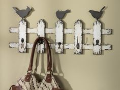 Picket Fence with Hooks #CraftWarehouse