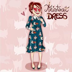 Instagram media morganeca - One of the best dress ever (specially when you're a crazy cat lady)