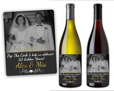 Th Wedding Anniversary Gift  Custom Anniversary Wine Label For
