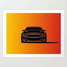 #ford #mustang #art #poster #decor #home #print #graphic #illustration #car #draw #artprint #decoration #home #style