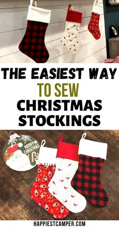 Want to Sew your own Christmas Stocking the Easy way? I make it easy for you to sew your own with our Free Pattern and Step by step sewing tutorial to show you how to sew a Christmas Stocking. Choose the colors and fabric of choice and follow the sewing tutorial and you will have new Christmas Stockings In no time! We give you for Free the Printable Christmas Stocking Pattern. The Easiest Way To Sew Christmas Stockings - Free Pattern Cricut Christmas Ideas, Christmas Craft Projects, Christmas Crafts For Gifts, Christmas Printables, Fall Crafts, Christmas Decor, Christmas Stocking Pattern, Christmas Sewing, Christmas Stockings