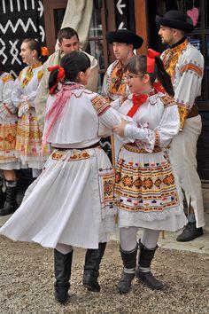 Village of Čičmany and traditional Slovak folklore