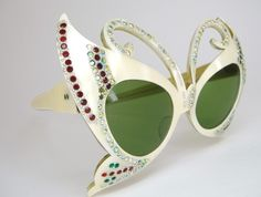 Rare Vintage Butterfly Cat Eye Sunglasses by Vintage50sEyewear
